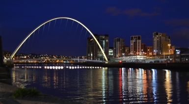 Millennium Bridge at night CC BY-NC-ND 4.0