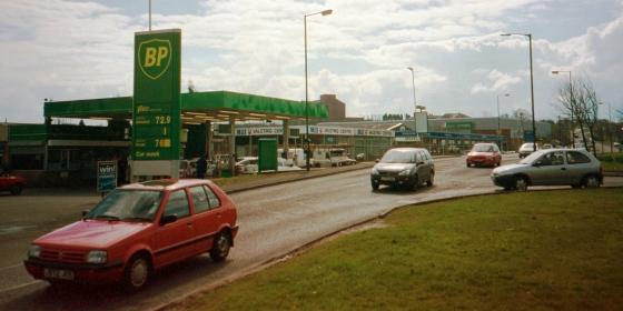 Former petrol station at Kingston Park.