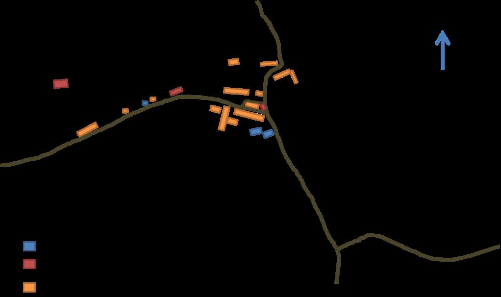 Dinnington 1913 Sketch map based on OS map Northumberland sheet nLXXXV published 1921.